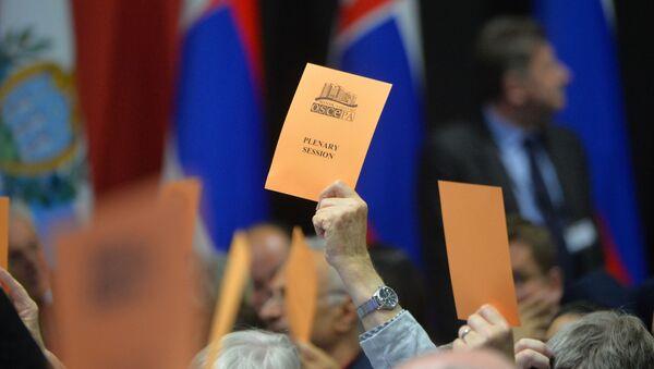 Голосование на сессии ПА ОБСЕ в Минске - Sputnik Беларусь
