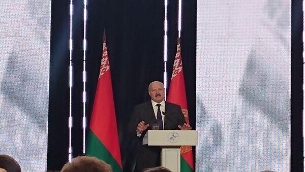 Аляксандр Лукашэнка на Кангрэсе рускай прэсы - Sputnik Беларусь