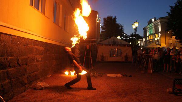 Вогненыя шоу праходзілі ў некалькіх частках цэнтра горада - Sputnik Беларусь
