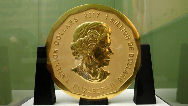 100-килограммовая монета Большой кленовый лист была украдена в марте 2017 года из музея Боде в Берлине - Sputnik Беларусь