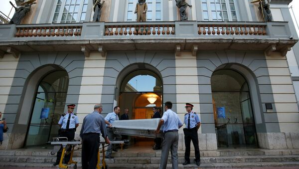 Эксгумация тела Сальвадора Дали в Фигерасе, Испания - Sputnik Беларусь