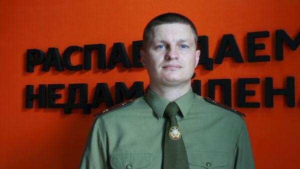 Начальнік цэнтра прапаганды і навучання мінскага абласнога ўпраўлення МНС Мікалай Дзялендзік - Sputnik Беларусь