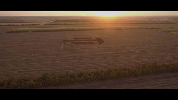 200-метровый логотип World of Tanks появился в Краснодарском крае - Sputnik Беларусь