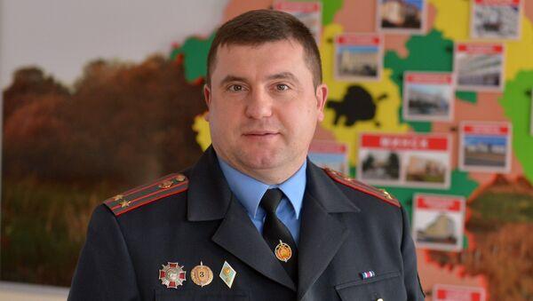 Начальник пресс-службы МВД по Минской области Евгений Сачек - Sputnik Беларусь