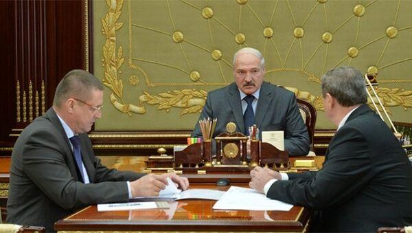 Лукашенко принял с докладом Михаила Русого и Леонида Зайца - Sputnik Беларусь