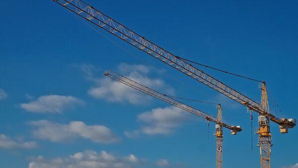 Строительные краны, архивное фото - Sputnik Беларусь