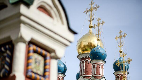 Храм Успения Пресвятой Богородицы в Гончарах в Москве, архивное фото - Sputnik Беларусь