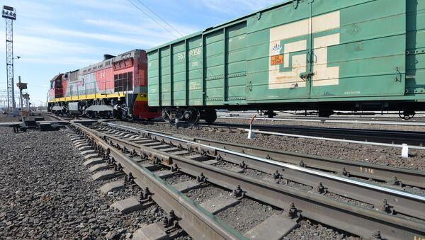 Тепловоз с грузовыми вагонами - Sputnik Беларусь