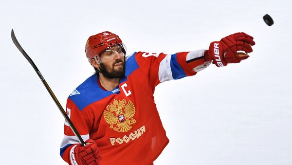 Игрок сборной России Александр Овечкин, архивное фото - Sputnik Беларусь