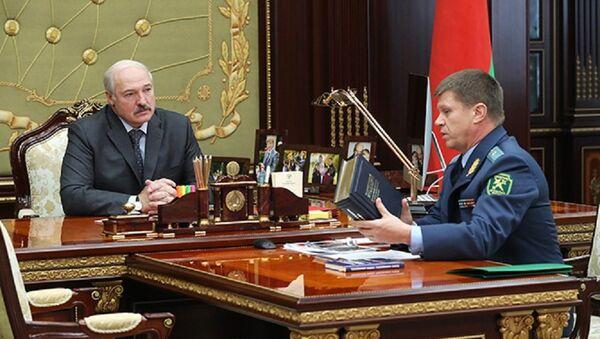 Встреча Александра Лукашенко с председателем Государственного таможенного комитета Беларуси Юрием Сенько - Sputnik Беларусь