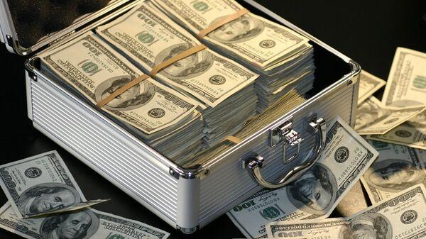 Чемодан с долларами, архивное фото - Sputnik Беларусь