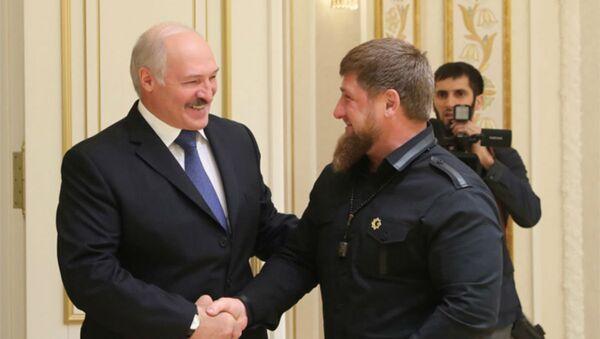 Александр Лукашенко во время встречи с Рамзаном Кадыровым - Sputnik Беларусь