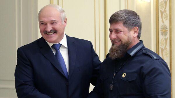 Аляксандр Лукашэнка і Рамзан Кадыраў - Sputnik Беларусь