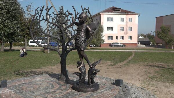 Як у Наваградку адкрывалі мемарыял у памяць аб загінуўшых у гета - Sputnik Беларусь