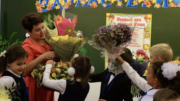 Кветкі для настаўніка, архіўнае фота - Sputnik Беларусь