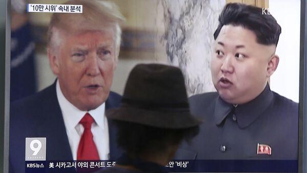 КНДР в уничижительных выражениях раскритиковала последнее заявление президента США Дональда Трампа по северокорейскому вопросу в Twitter - Sputnik Беларусь