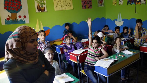 Уроки для ливанских беженцев в Германии - Sputnik Беларусь