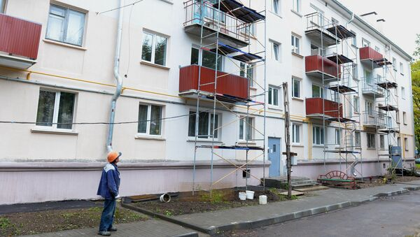 Дом, в котором проводится капитальный ремонт - Sputnik Беларусь