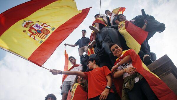Акция в поддержку единства Испании в Барселоне - Sputnik Беларусь