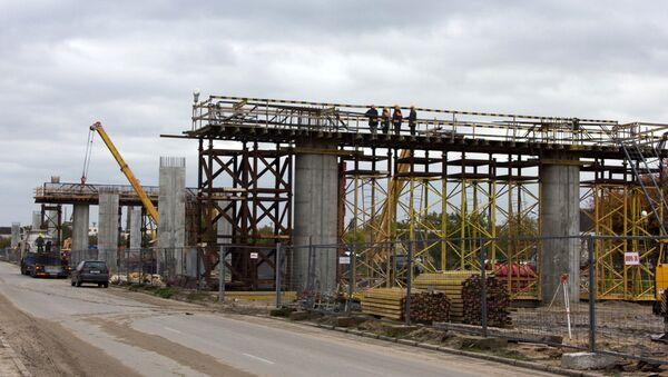 Большая стройка: уникальную транспортную развязку строят в Бресте - Sputnik Беларусь