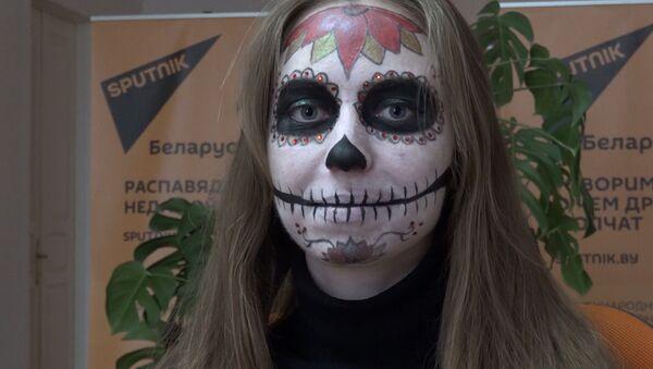 Макіяж на Хэлоўін цукровы чэрап - Sputnik Беларусь