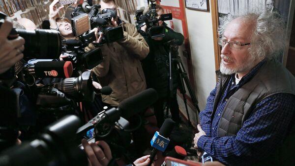 Неизвестный напал с ножом на ведущую в редакции Эхо Москвы - Sputnik Беларусь