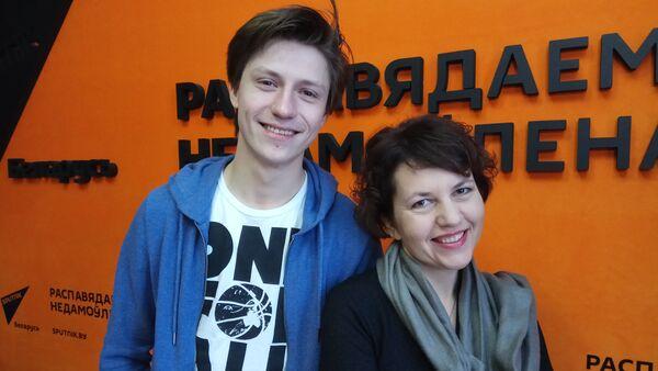 Рэжысёр Аляксандра Бутар і акцёр Эрык Абрамовіч - Sputnik Беларусь