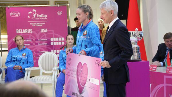 Аляксандра Сасновіч атрымала ўзнагароду Fed Cup Heart Awards - Sputnik Беларусь