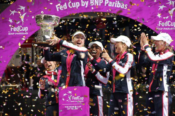 Сборная США во время церемонии награждения победителей Кубка Федерации - Sputnik Беларусь