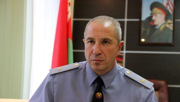 Заместитель министра внутренних дел - командующий внутренними войсками генерал-майор Юрий Караев - Sputnik Беларусь
