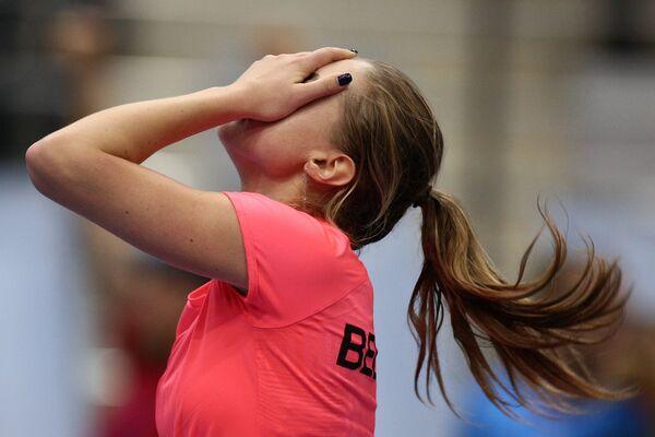 Александра Саснович радуется победе в одиночной встрече против Слоан Стивенс - Sputnik Беларусь
