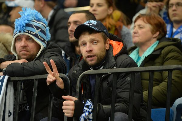 Болельщики были определенно рады удачному завершению домашней серии Динамо - Sputnik Беларусь