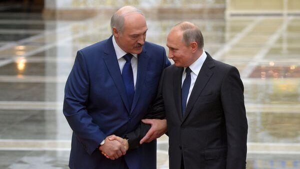 Александр Лукашенко и Владимир Путин - Sputnik Беларусь