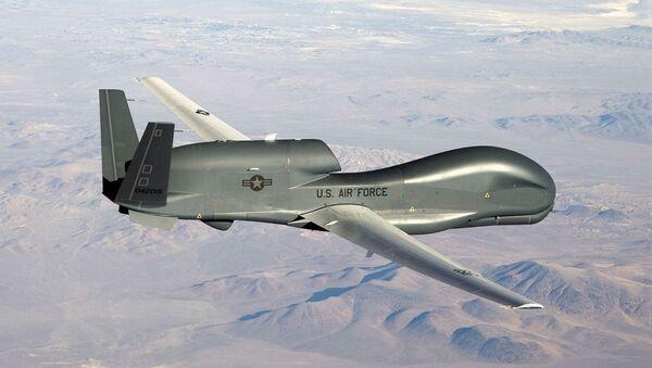 Американский стратегический беспилотный летательный аппарат RQ-4A Global Hawk - Sputnik Беларусь