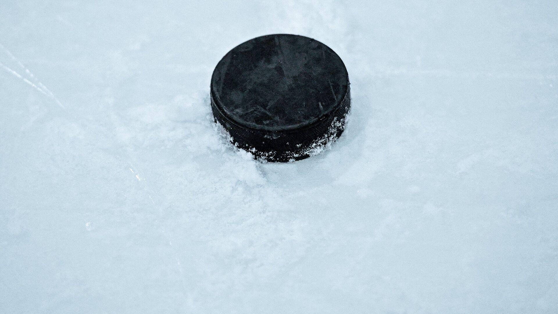 Шайба на льду катка, архивное фото - Sputnik Беларусь, 1920, 16.03.2021