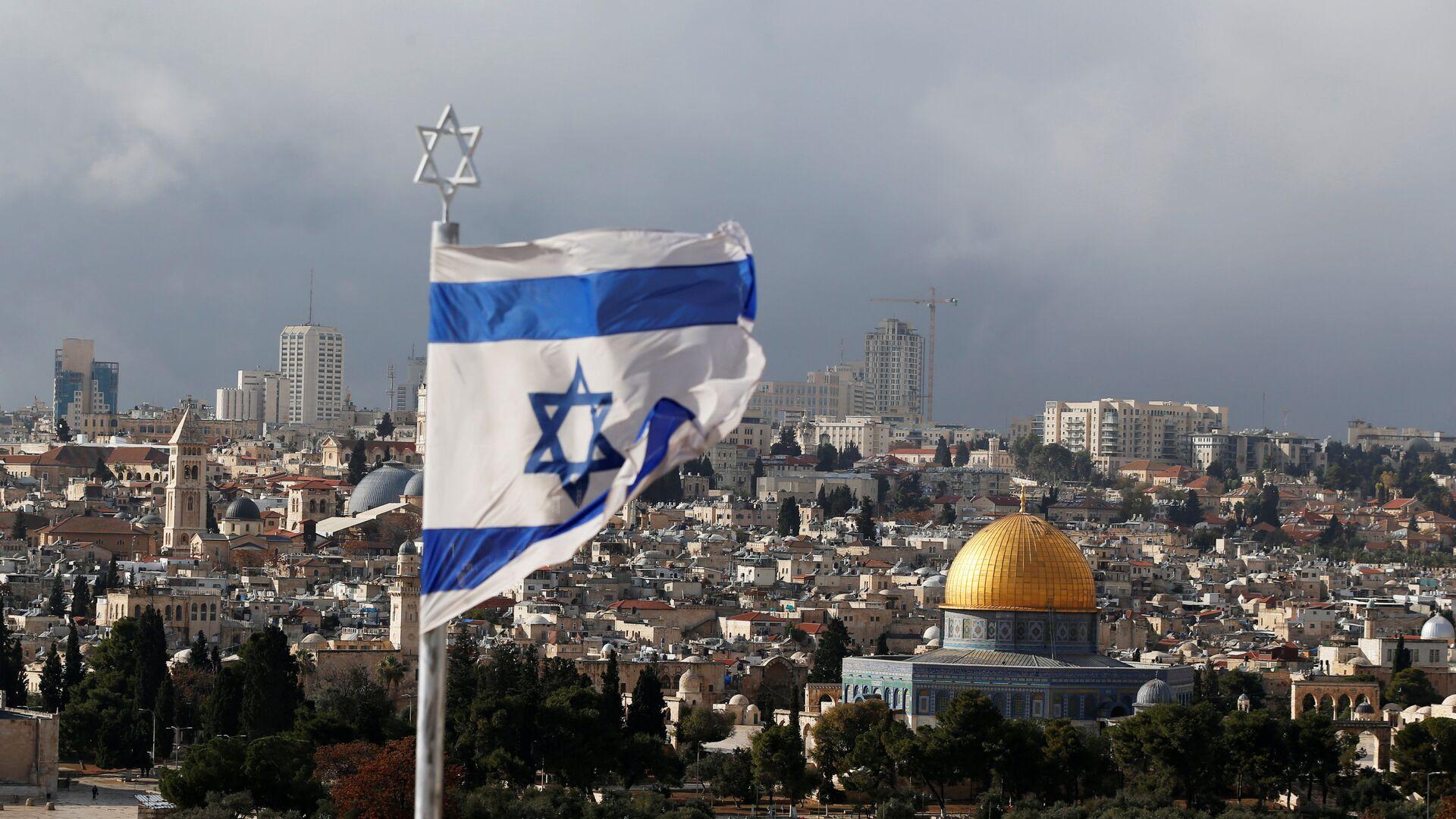 Флаг Израиля в Иерусалиме - Sputnik Беларусь, 1920, 09.07.2021