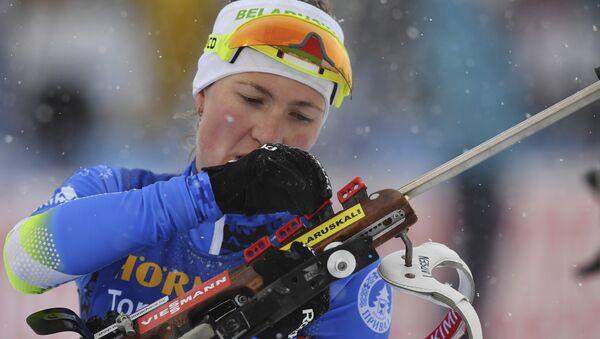 Дарья Домрачева на этапе Кубка мира в Австрии - Sputnik Беларусь