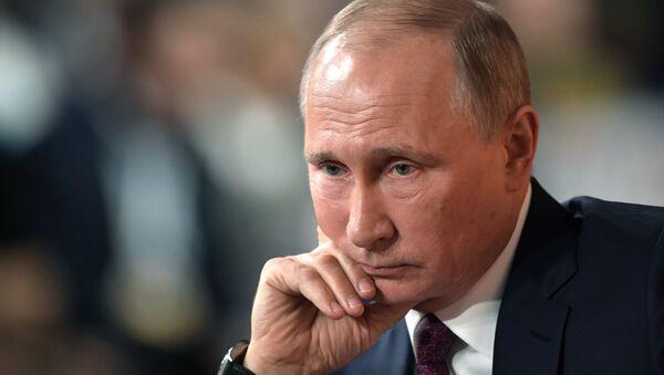 Ежегодная большая пресс-конференция президента РФ Владимира Путина - Sputnik Беларусь