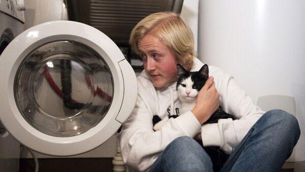 В Осло кот выжил после случайной стирки в машинке - Sputnik Беларусь
