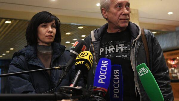 Белорусские врачи Инна Бабуш и Сергей Здота, освобожденные в Ливии - Sputnik Беларусь