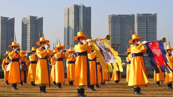 Северокорейский военный оркестр, архивное фото - Sputnik Беларусь