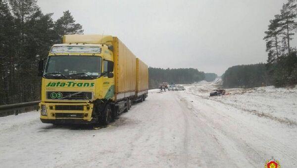 Последствия ДТП в Слонимском районе - Sputnik Беларусь