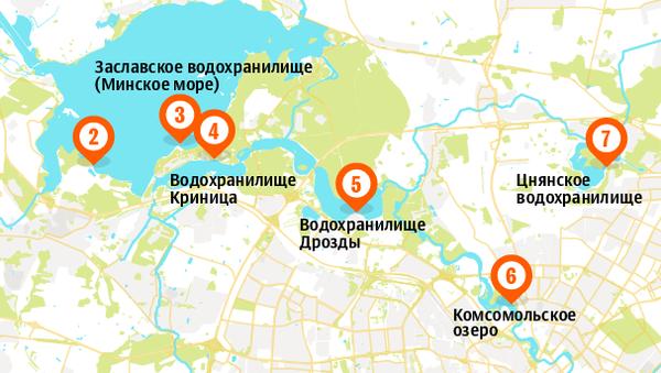 Места крещенских купаний в Минске 2018 – инфографика на sputnik.by - Sputnik Беларусь