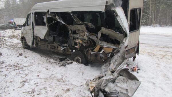 Место аварии в Узденском районе - Sputnik Беларусь