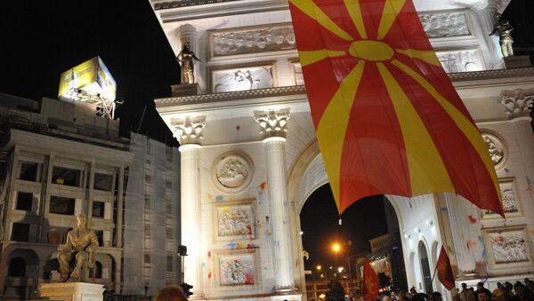 Акции протеста в Македонии - Sputnik Беларусь