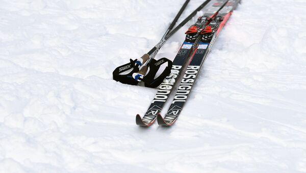 Лыжи и палки на снегу - Sputnik Беларусь