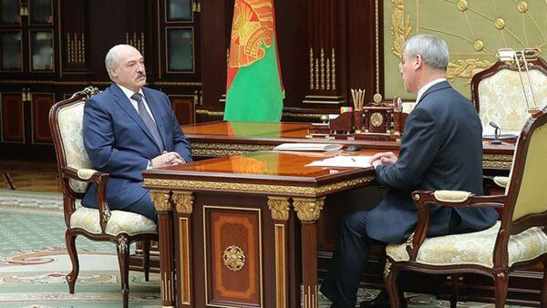 Встреча Александра Лукашенко с Председателем Палаты представителей Национального собрания Владимиром Андрейченко - Sputnik Беларусь