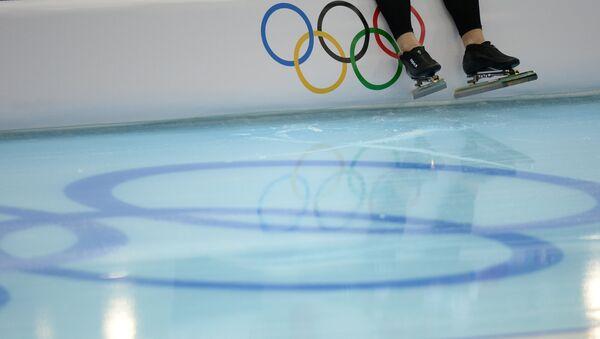 На тренировке по конькобежному спорту - Sputnik Беларусь