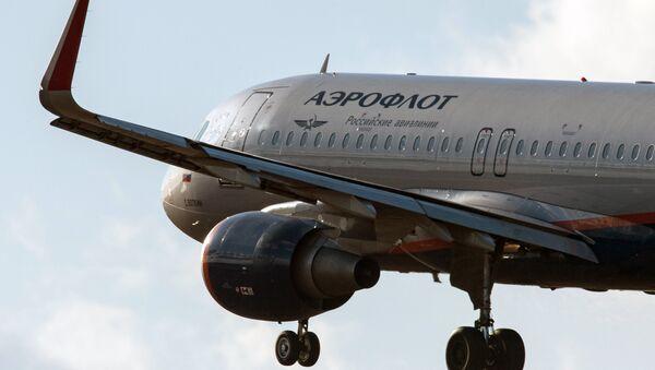 Самолет Airbus A320 авиакомпании Аэрофлот - Sputnik Беларусь