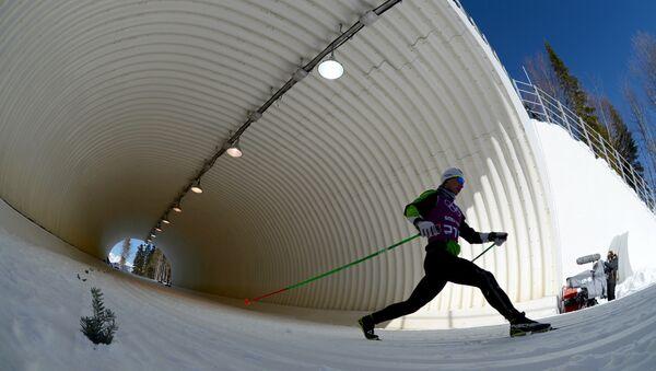 Белорусский лыжник Сергей Долидович на Олимпиаде в Сочи - Sputnik Беларусь